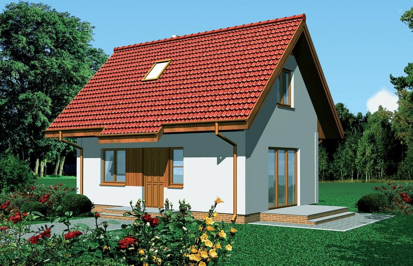 Projekt domu Sosenka - wizualizacja frontowa