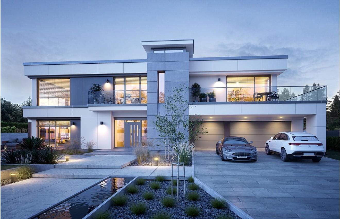 Projekt domu Willa Floryda 5 - wizualizacja frontowa