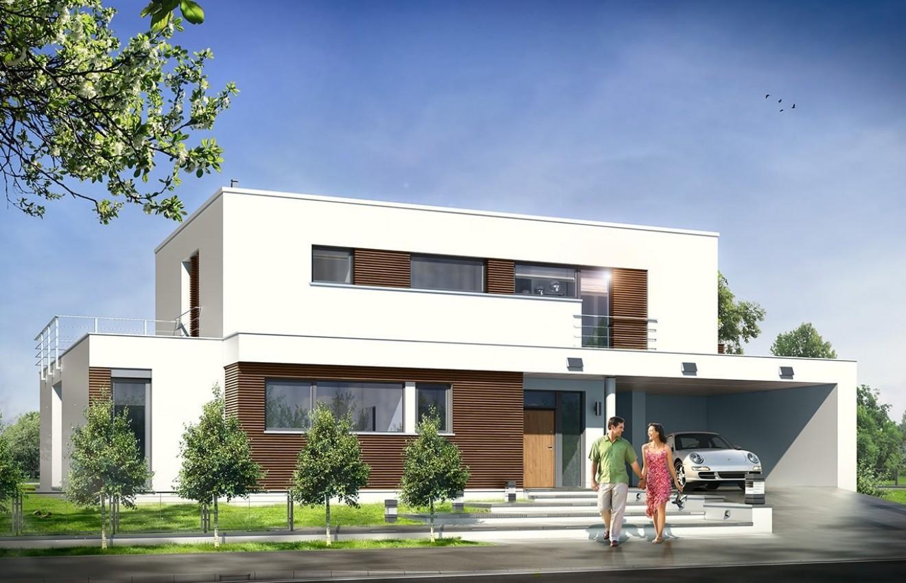 Projekt domu Willa l` Azur - wizualizacja frontowa