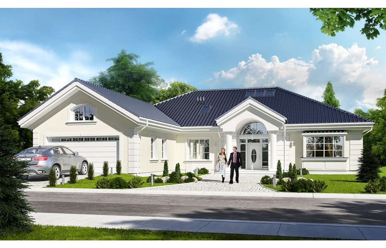 Projekt domu Willa parkowa 2 - wizualizacja frontowa