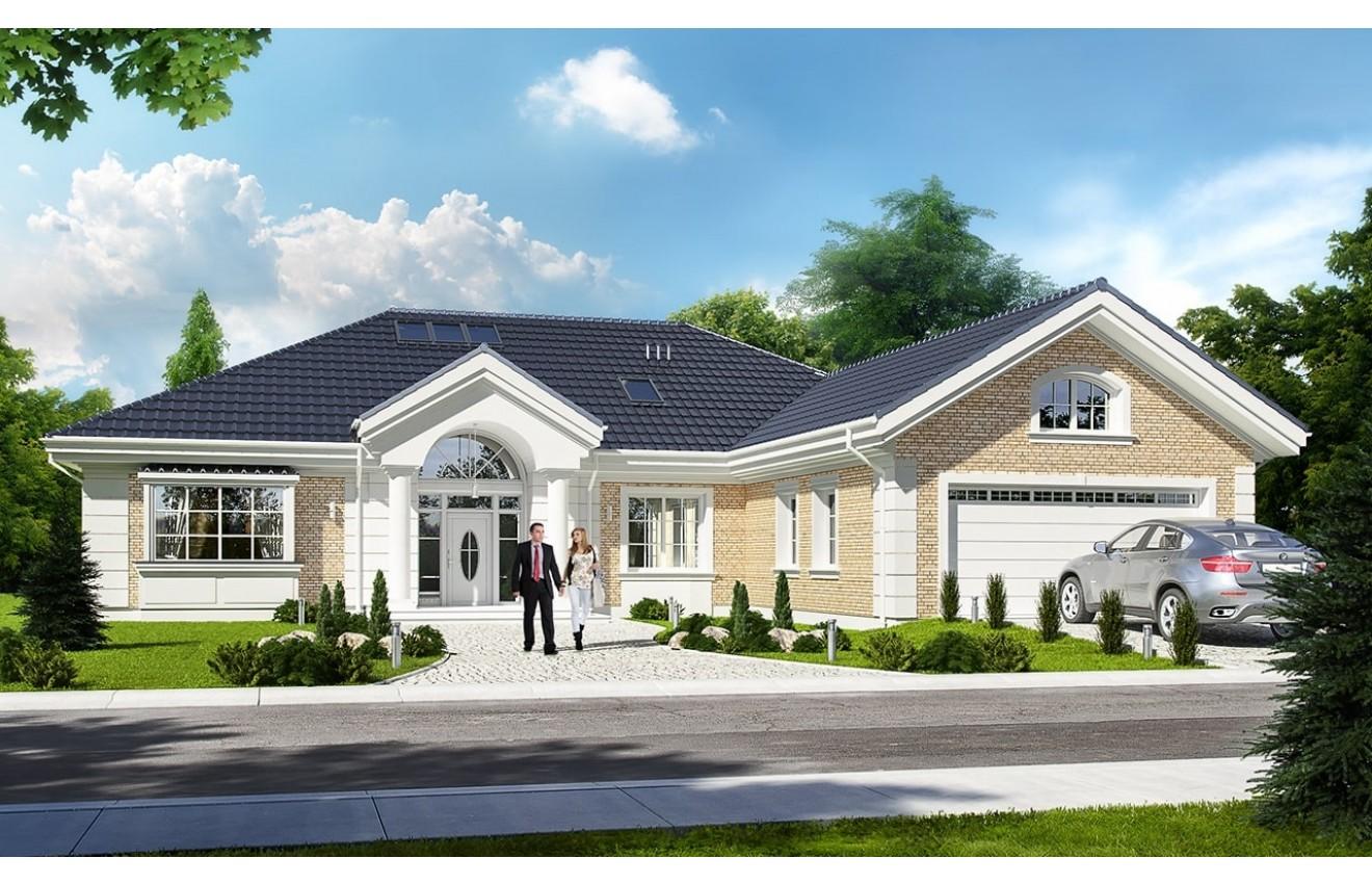 Projekt domu Willa parkowa 3 - wizualizacja frontowa