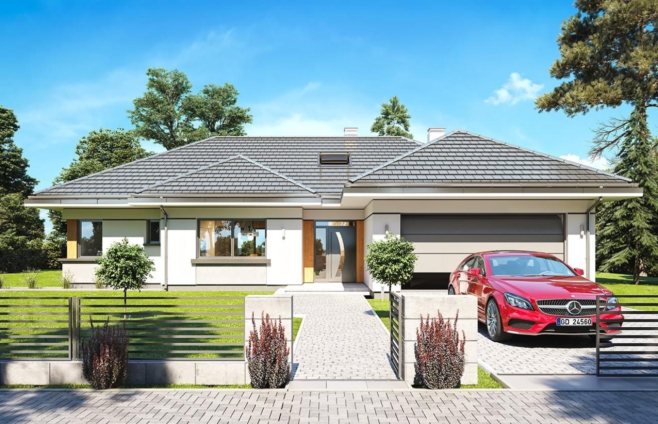 Projekt domu Willa parterowa 2 - wizualizacja frontowa