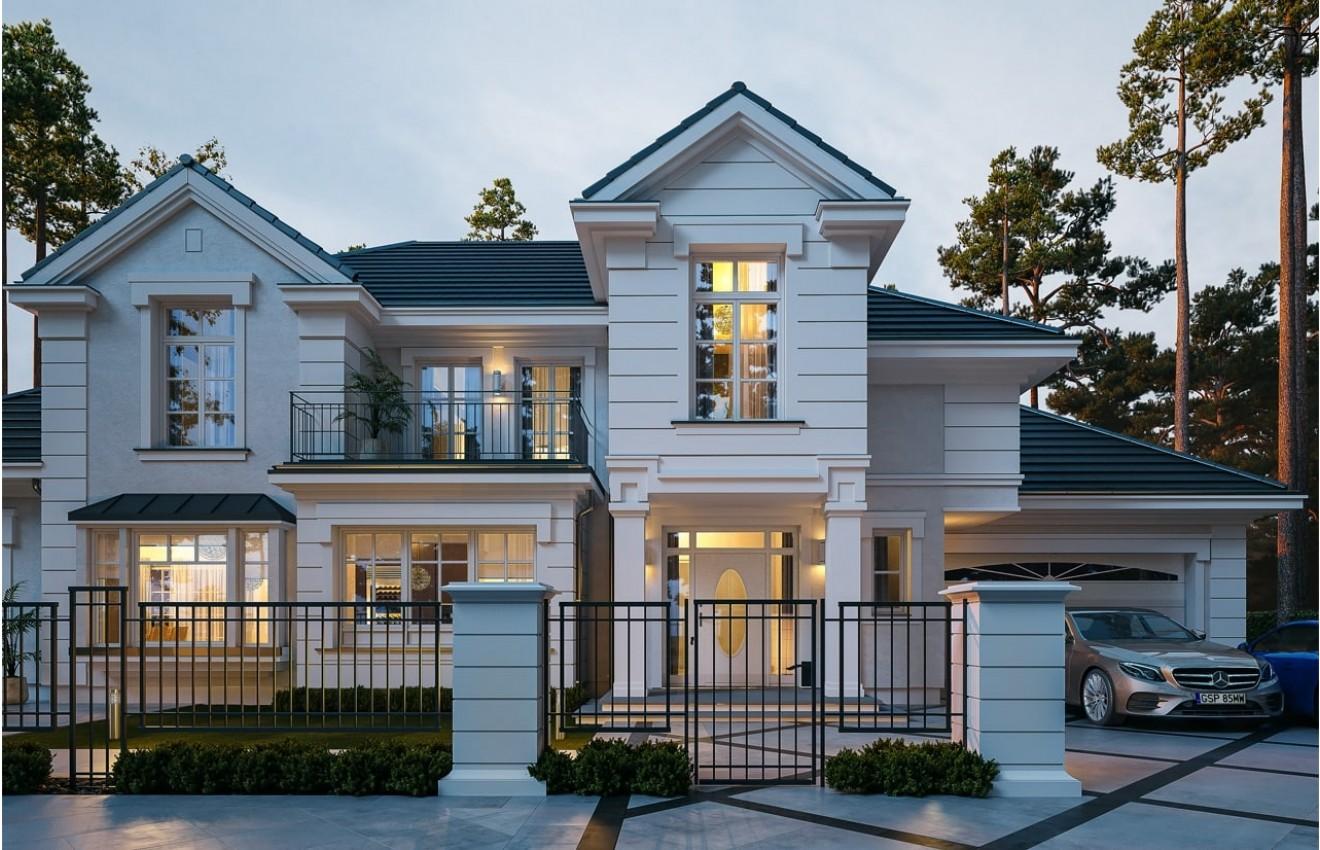 Projekt domu Willa Siedziba wizualizacja frontowa