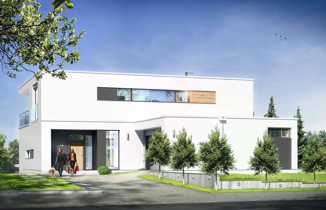 Projekt domu Willa Słoneczna - wizualizacja frontowa