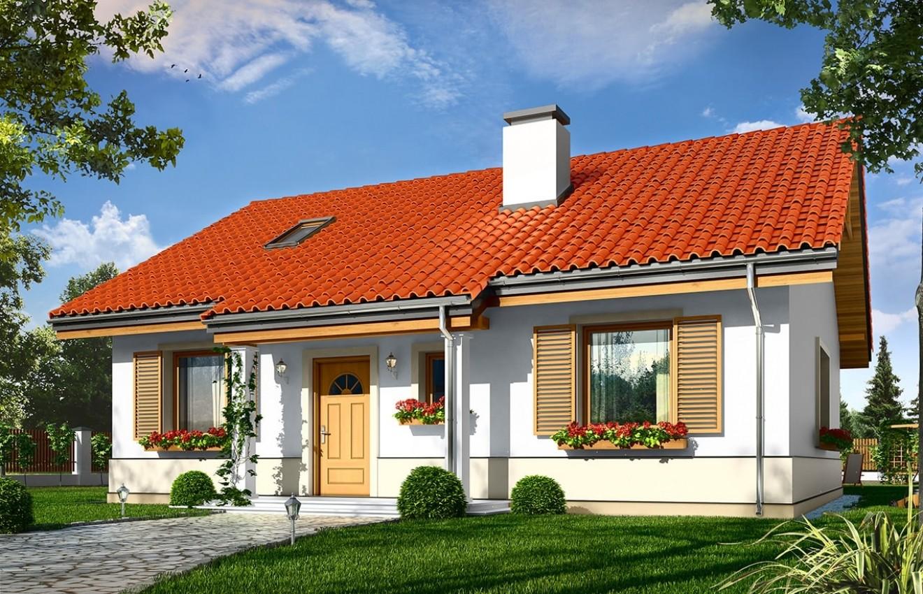 Projekt domu Żabka 2 - wizualizacja frontowa