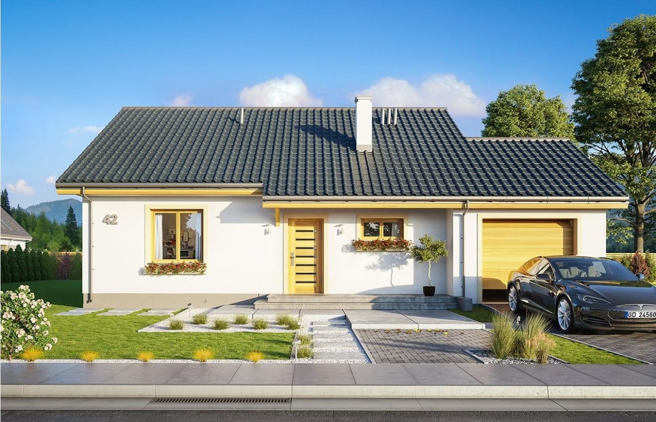 Projekt domu Zosia 8 - wizualizacja frontowa