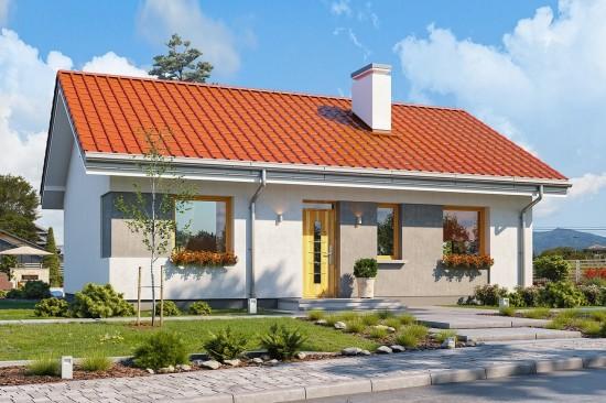 Projekt domu Kasia 3 - wizualizacja frontu