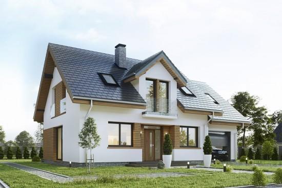 Projekt domu Narcyz 4 - wizualizacja frontu