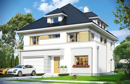Projekt domu Agat 2 - wizualizacja frontowa