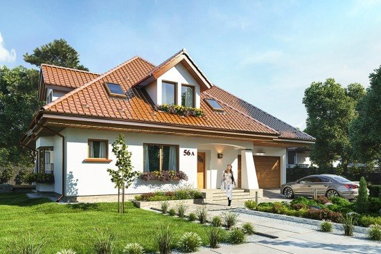 Projekt domu Agnieszka 3  - wizualizacja frontowa