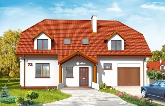 Projekt domu Akacjowy - wizualizacja frontowa