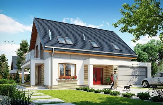 Projekt domu Albatros 2 - wizualizacja frontowa