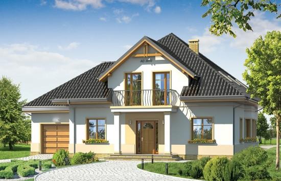 Projekt domu Amanda - wizualizacja frontowa