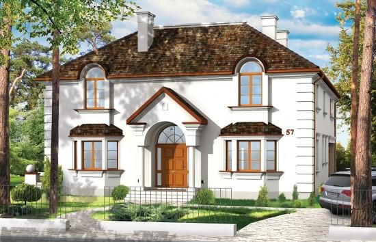 Projekt domu Ambasador 2 - wizualizacja frontowa