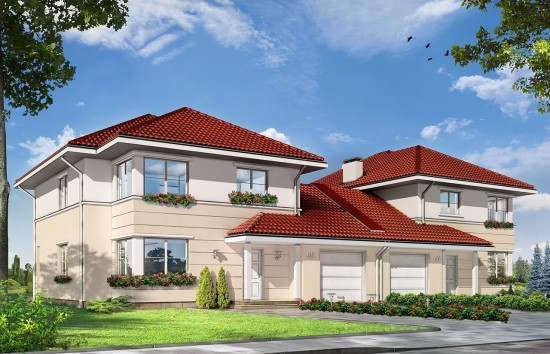Projekt domu Ametyst 2 - wizualizacja frontowa