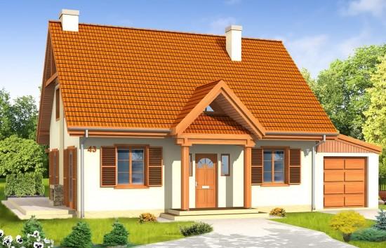 Projekt domu Bajkowy 2 - wizualizacja frontowa