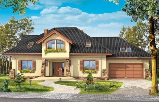 Projekt domu Benedykt 4 - wizualizacja frontu