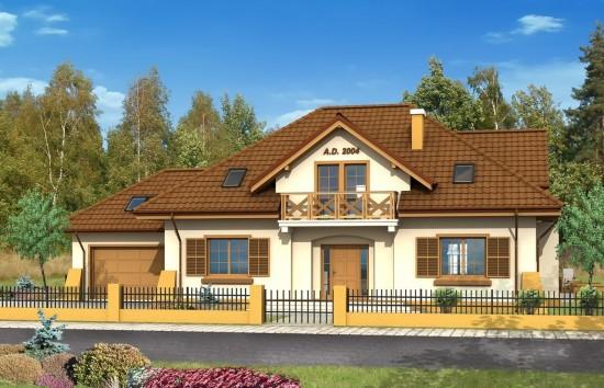 Projekt domu Benedykt - wizualizacja frontu