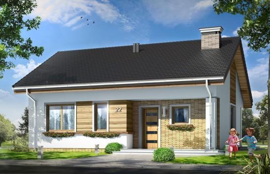 Projekt domu Bonifacy - wizualizacja frontowa