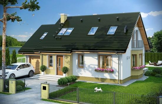 Projekt domu Bryza 6 (MDM) - wizualizacja frontowa