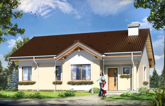 Projekt domu Cypisek 2 - wizualizacja frontowa