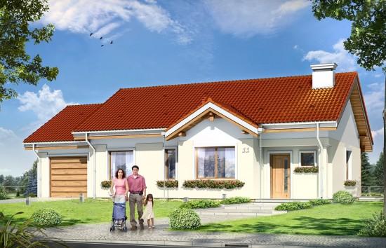 Projekt domu Cypisek 3 - wizualizacja frontowa
