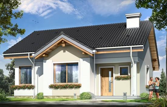 Projekt domu Cypisek - wizualizacja frontowa