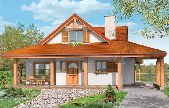 Projekt domu Czapla - wizualizacja frontowa