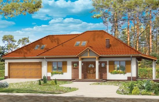 Projekt domu Cztery kąty 3 - wizualizacja frontowa
