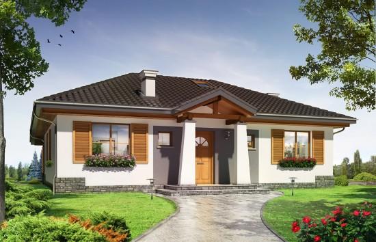 Projekt domu Cztery kąty 4 - wizualizacja frontowa