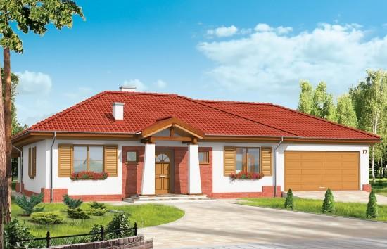 Projekt domu Cztery kąty - wizualizacja frontowa