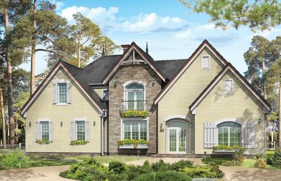 Projekt domu Dallas - wizualizacja frontowa