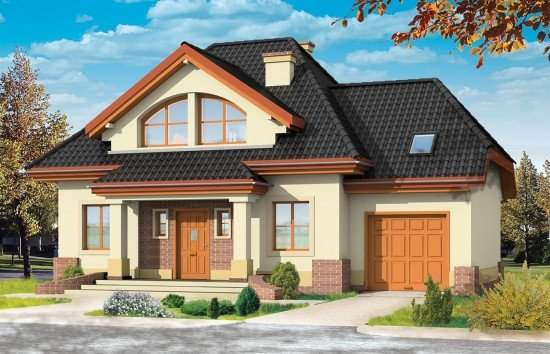 Projekt domu Dom na medal 2 - wizualizacja frontu