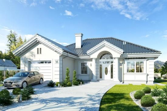 Projekt domu Dom na parkowej 4 - wizualizacja frontowa