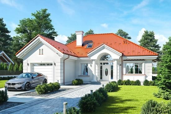 Projekt domu Dom na Parkowej 5 - wizualizacja frontu