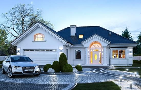 Projekt domu Dom na Parkowej 6 - wizualizacja frontu