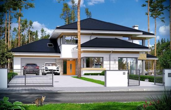 Projekt domu Dom z widokiem 2 - wizualizacja frontu