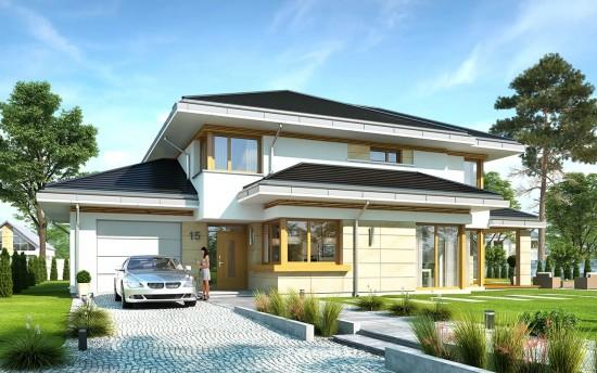 Projekt domu Dom z widokiem 5 - wizualizacja frontu
