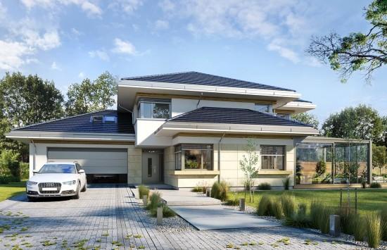 Projekt domu Dom z widokiem 6 B - wizualizacja frontu