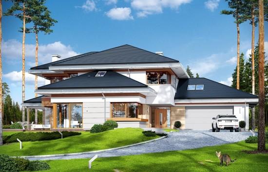 Projekt domu Dom z widokiem - wizualizacja frontu