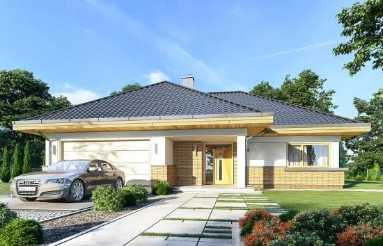 Projekt domu Doskonały 2 B - wizualizacja frontowa