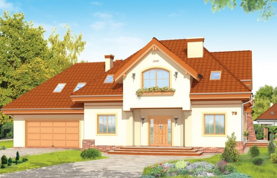 Projekt domu Edyta - wizualizacja frontowa