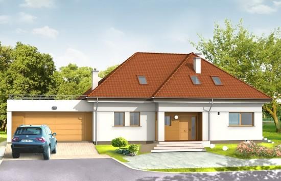 Projekt domu Eko - wizualizacja frontowa