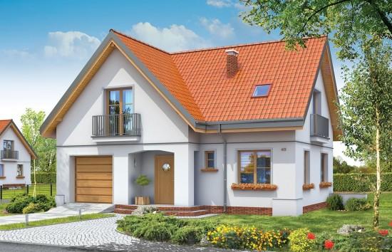 Projekt domu Elka - wizualizacja frontowa