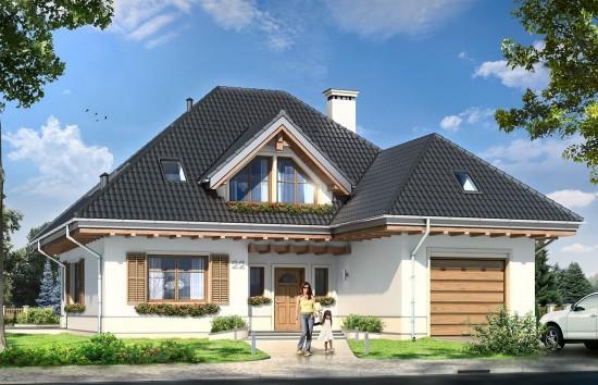 Projekt domu Fantazja - wizualizacja frontowa