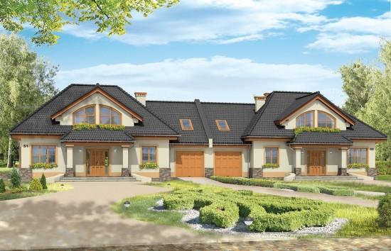 Projekt domu Faworyt 3 - wizualizacja frontowa