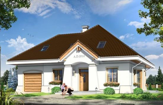 Projekt domu Figiel 2 - wizualizacja frontowa
