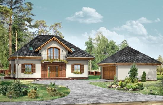 Projekt domu Filip - wizualizacja frontowa
