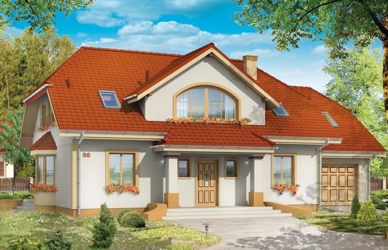 Projekt domu Fokus - wizualizacja frontowa