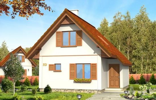 Projekt domu Francik - wizualizacja frontowa